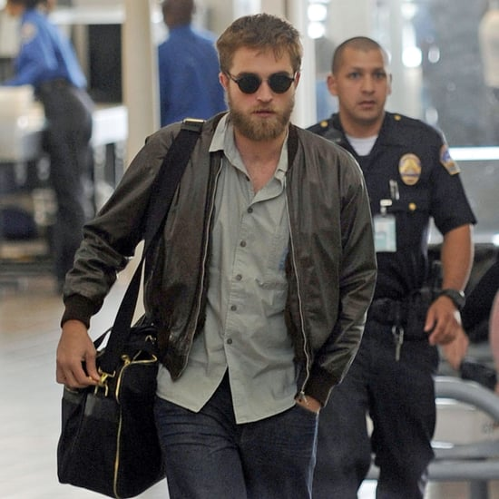 Robert Pattinson With a Beard Leaving LAX Pictures
