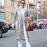 Style Your Leopard-Print Coat With: A White Tee and Jeans With Sneakers