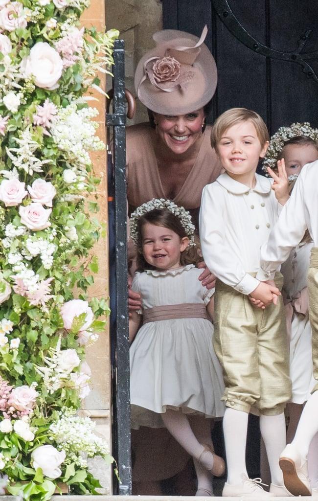 Page Boy Posing at Pippa Middleton's Wedding 2017