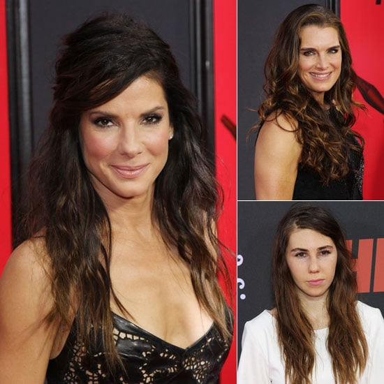 Sandra Bullock, Brooke Shields, Zosai Mamet at The Heat NYC