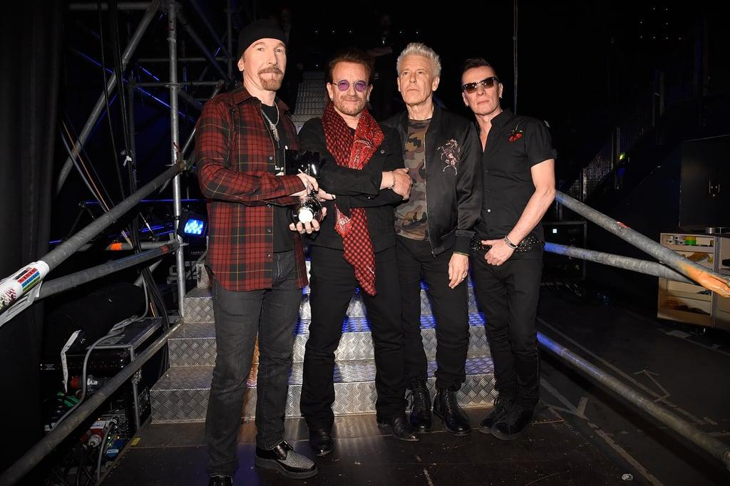 Pictured: The Edge, Bono, Adam Clayton, and Larry Mullen Jr