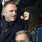 Salma Hayek and Francois-Henri Pinault kept close during the match.