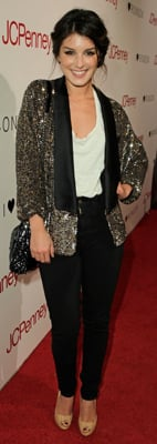 Shenae Grimes Style in Sequin Jacket