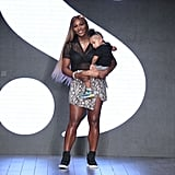 Alexis Olympia Ohanian Jr. With Serena Williams at NYFW