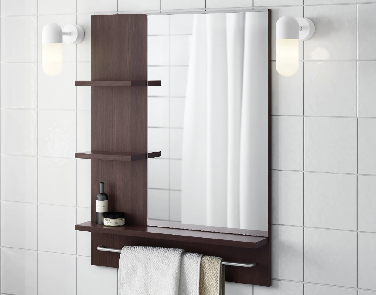 Lillangen Mirror Small Bathrooms Meet Big Storage Solutions 60 Ikea Products That Give You All The Space Need Popsugar Home Photo 18
