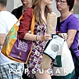 Elizabeth Olsen shopped at Whole Foods in NYC.