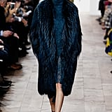 Kendall Took the Michael Kors Runway in a Blue Wintry Look That Was All About Texture