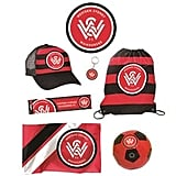 Western Sydney Wanderers Showbag ($25) Includes:  Bumper sticker  Cap  Soccer ball   (Other teams available)