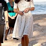 Kate wore her own fresh take by Zimmermann in Australia in 2014.