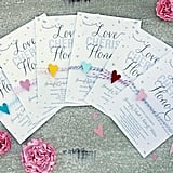 Hearts Confetti Wedding Invitation