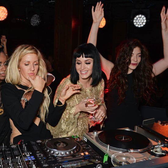 Katy Perry and Lorde DJing at the Brit Awards Afterparty