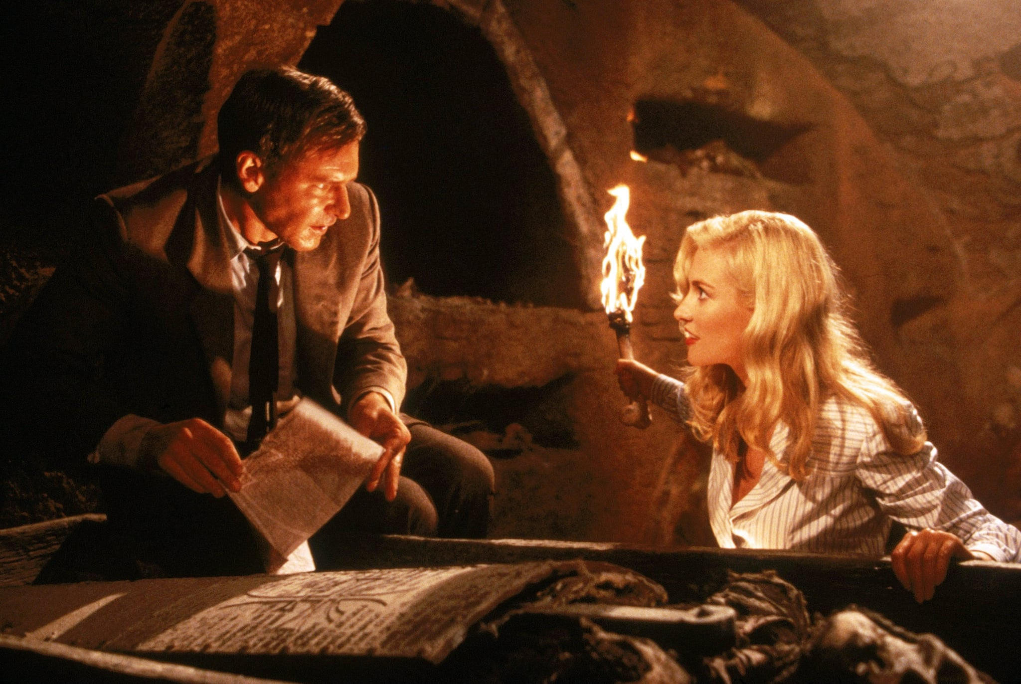 INDIANA JONES AND THE LAST CRUSADE, Harrison Ford, Alison Doody, 1989, Paramount/courtesy Everett Collection