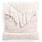 Fringe and Loop Woven Pillow