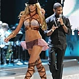 Flirting with Usher in 2008.