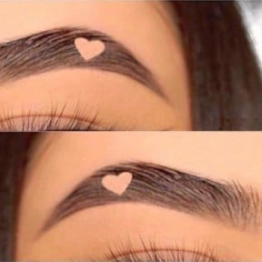 Heart Brows Instagram Trend