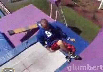 Guy Does Trampoline Wall Tricks
