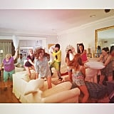 There was an epic pillow fight with the girls! Source: Instagram user annakendrick47
