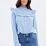 Vero Moda Daimi Long Sleeve Ruffle Shirt $54.95