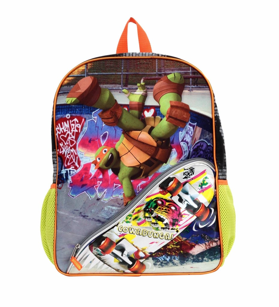 TMNT Skateboarding Turtles Backpack=