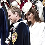 Kate Middleton and Prince William were in their finest for the June 2011 Order of the Garter Service in Windsor.