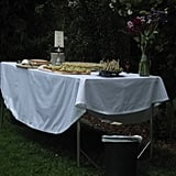 Crisp white tablecloths let the food be the focal point.