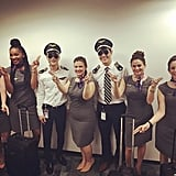 Pilots and Flight Attendant