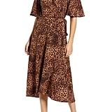 Bobeau Orna Print Wrap Dress