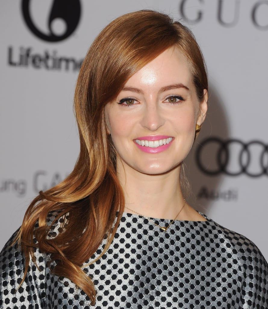 Ahna O'Reilly (from The Help) showed how to masterfully colorblock copper hair and bubblegum-pink lips.