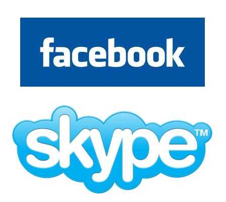 Facebook and Skype Partnering