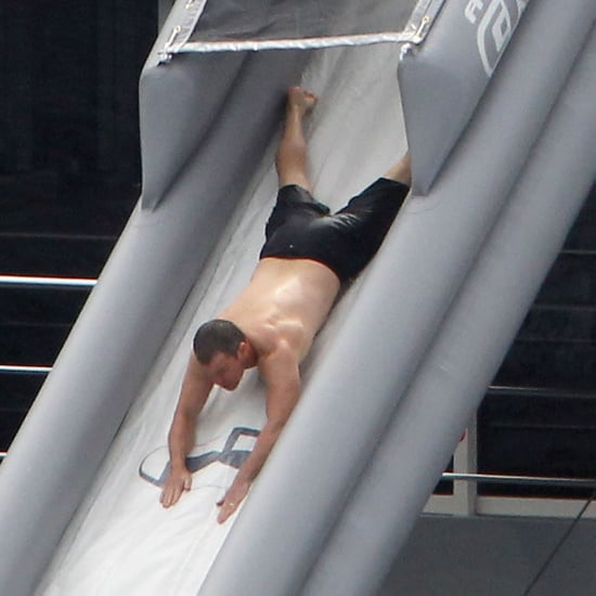 Shirtless Matt Damon Pictures on Yacht With Lucy