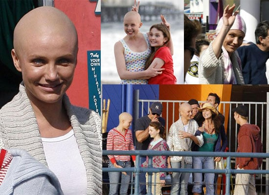 "Photos of Bald Cameron Diaz on the Set of ""My Sister's Keeper"""