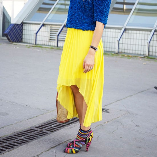 For a Dynamic Contrast, Get Inspired By These Street Stylers' High-Low Skirts