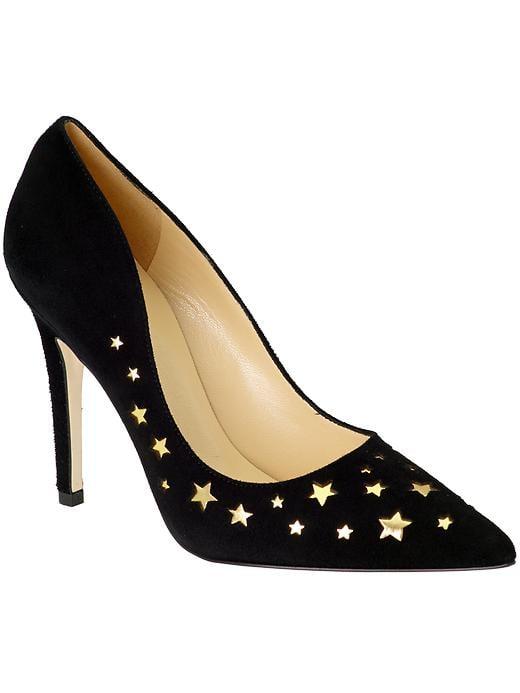 Kate Spade New York Lela gold and black star pumps ($230, originally $328)