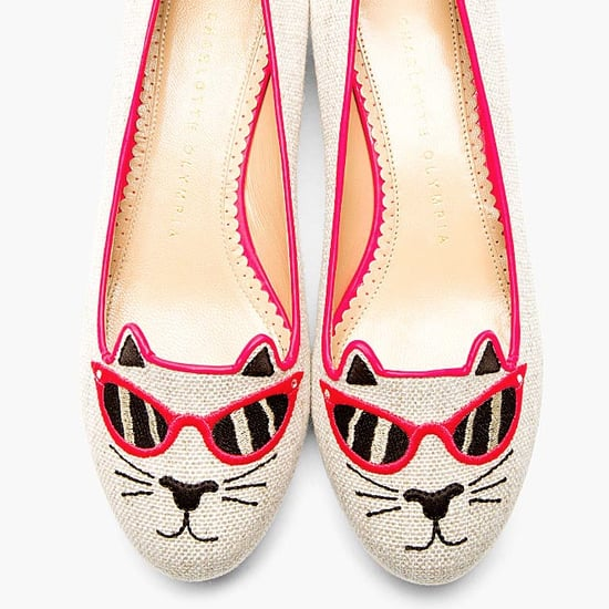 Charlotte Olympia Sunkissed Kitty Flats With Sunglasses