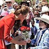 When She Accepted Flowers From This Little Cowboy