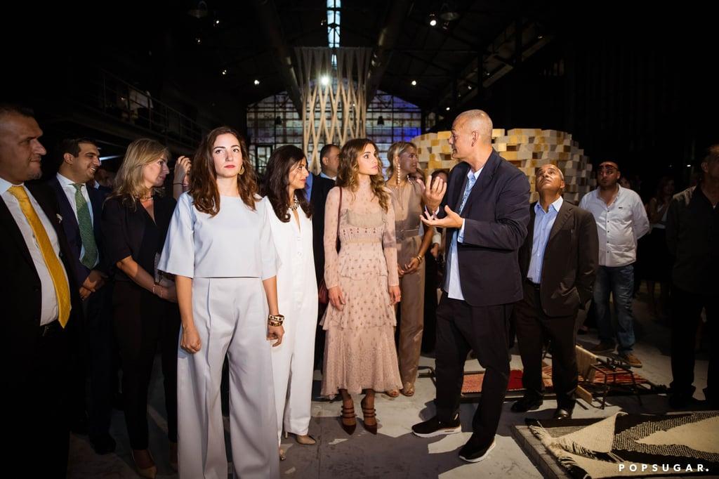 Queen Rania S Valentino Dress At Amman Design Week 2016