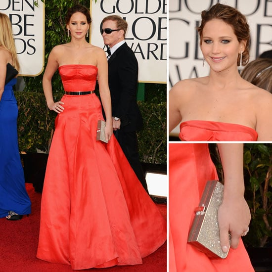 Jennifer Lawrence in Christian Dior Couture at Golden Globes