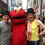 They aren't shy about taking photos with Elmo.