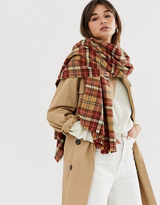 ASOS Design Check Scarf