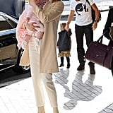 Nicole Kidman arrived at airport with Keith Urban, Sunday, and Faith.