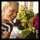 Jesse Tyler Ferguson shared a photo of his pretty flowers and even prettier friend, Rebecca Romijn. Source: Instagram user jessetyler