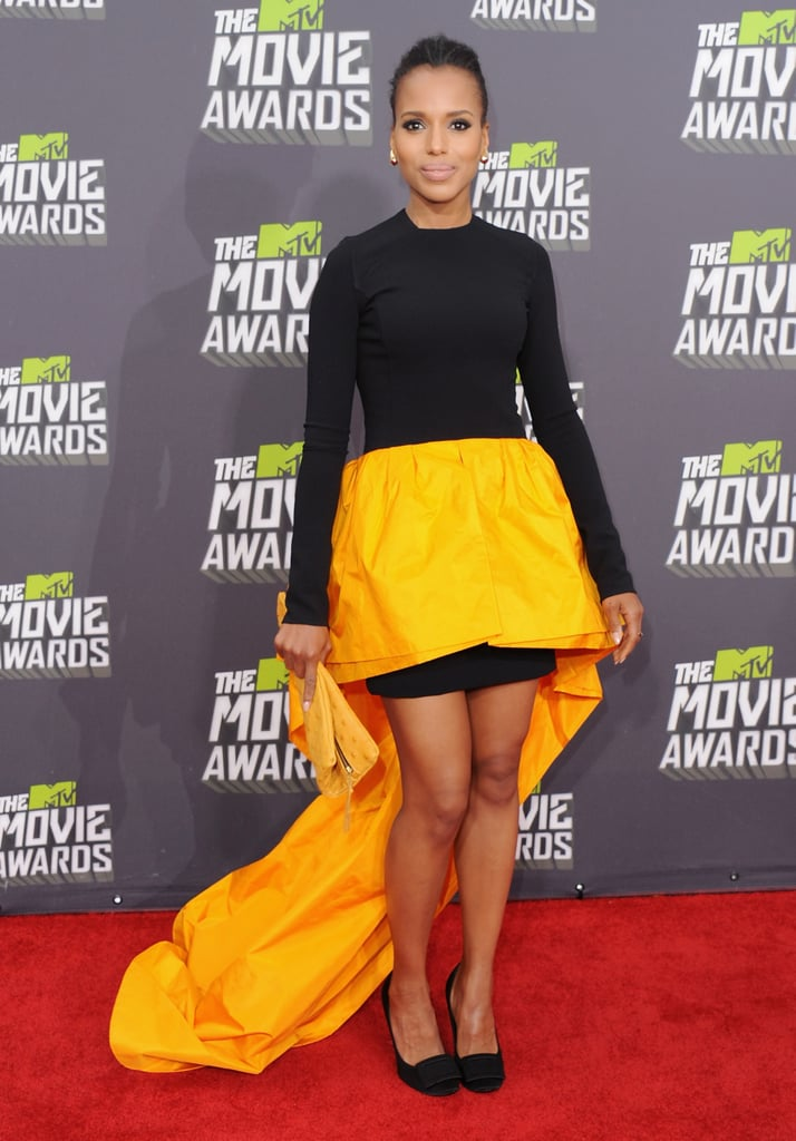 Kerry showed off her stems — and her penchant for daring fashion — in this neon-and-black asymmetrical Michael Kors dress at the 2013 MTV Movie Awards.