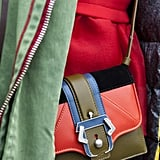 This minibag spoke volumes thanks to the cool colorblocked colors.