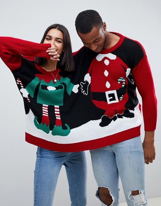 ASOS Boohoo Santa and Elf Two-Person Holiday Sweater ($44)