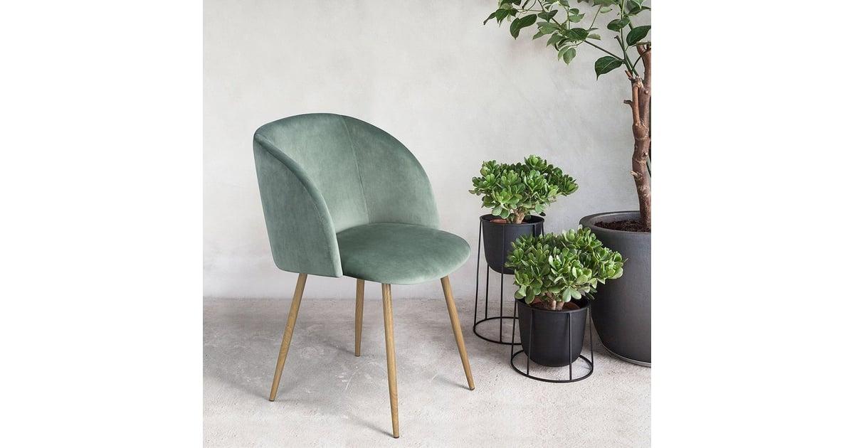 Amazon Midcentury Velvet Chair Set Popsugar Home Photo 3