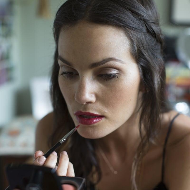 Apply a Dramatic Lipstick