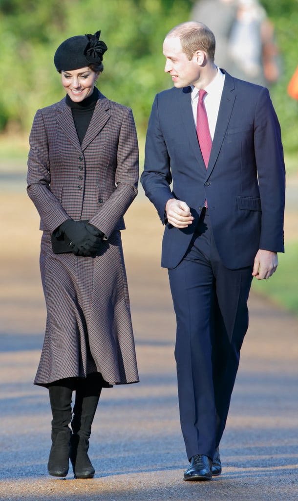 Prince William gave his wife a loving glance when they attended a wreath laying ceremony to mark the 100th anniversary of the final withdrawal from the Gallipoli Peninsula at the War Memorial Cross in Sandringham in January 2016.