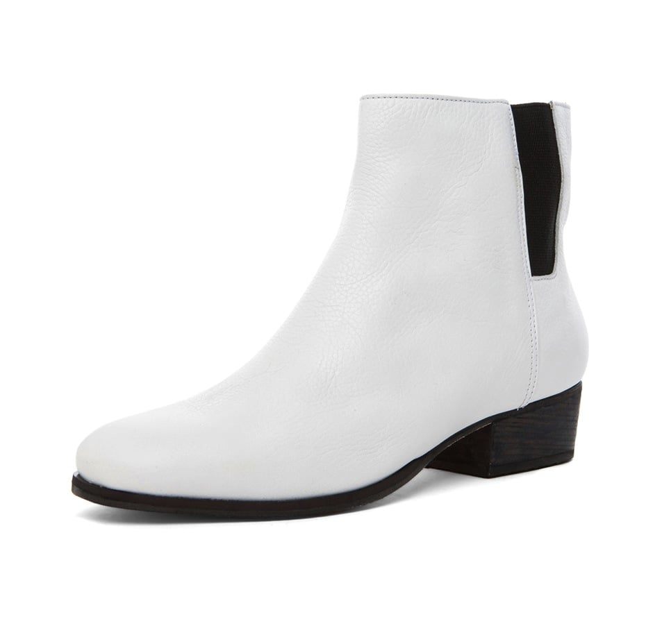 We say give your black booties a rest and try these Rachel Comey white ankle boots ($238, originally $396) instead.