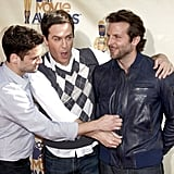 Justin Bartha, Ed Helms, and Bradley Cooper