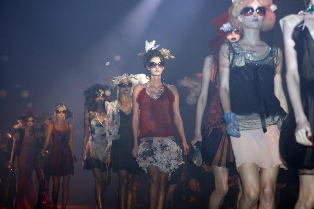 John Galliano Harks Back to Fading Film Stars for Spring 2010